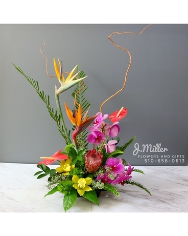 Tropical Cheer Flower Arrangement