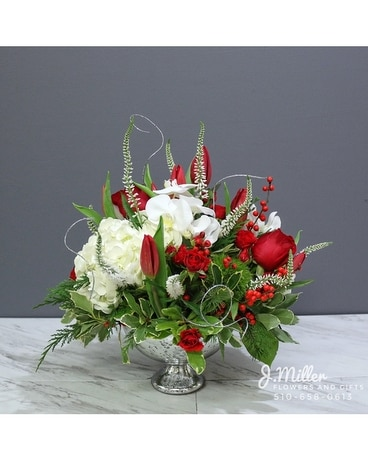 Holiday J.Miller Luxe Flower Arrangement