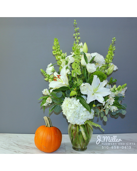 Pumpkin and Flower Arrangement Flower Arrangement