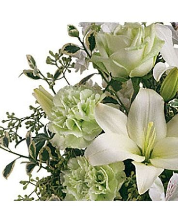 Designer's Choice - Classic Whites Flower Arrangement