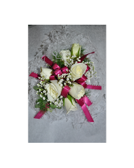 white sweetheart wristlet Flower Arrangement