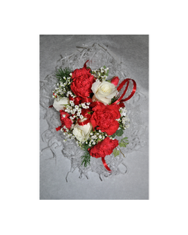 mini carnation and sweetheart roses wristlet Flower Arrangement