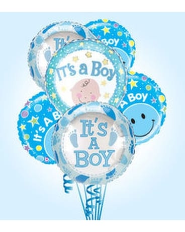 Baby Boy Balloon Bouquet in St. Petersburg FL - Artistic Flowers