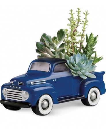 His Favorite Ford Pickup Flower Arrangement