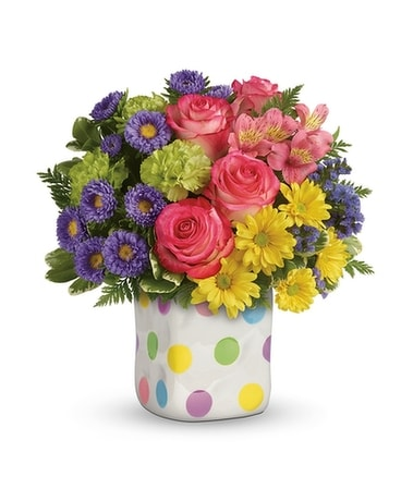 Happy Dot Bouquet Flower Arrangement