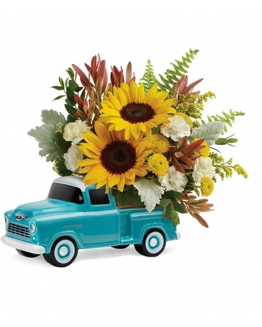 Chevy Pickup Bouquet Flower Arrangement