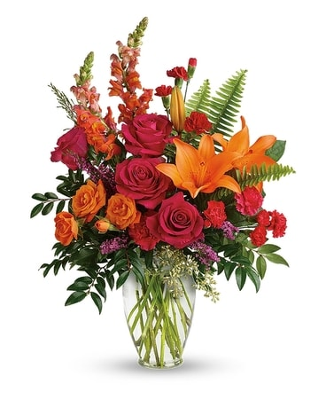Punch of Color Bouquet Flower Arrangement