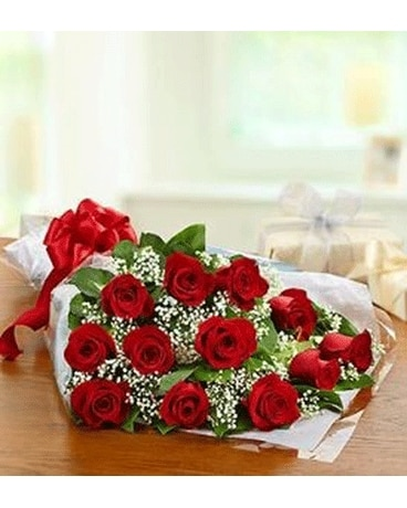 Doz Red Roses Wrapped In Love