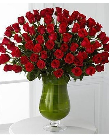50 Premium Long Stem Red Roses Flower Arrangement