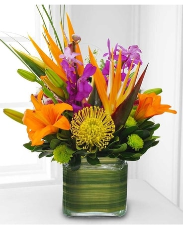 Sunset Tropical Flower Arrangement