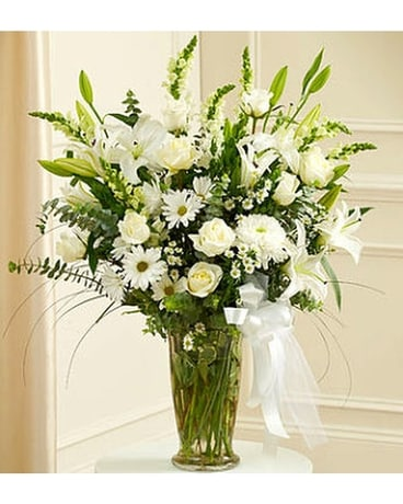 Graceful White Remembrance Flower Arrangement