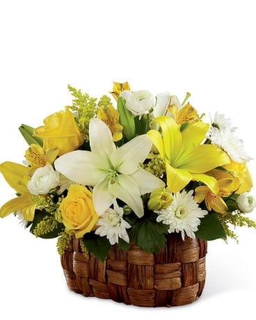 Nature's Bounty Basket Flower Arrangement