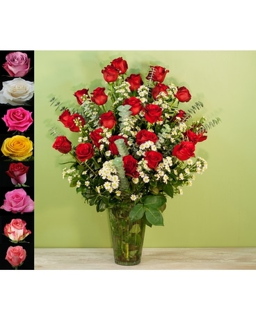 Two Dozen Amazing Roses Flower Arrangement