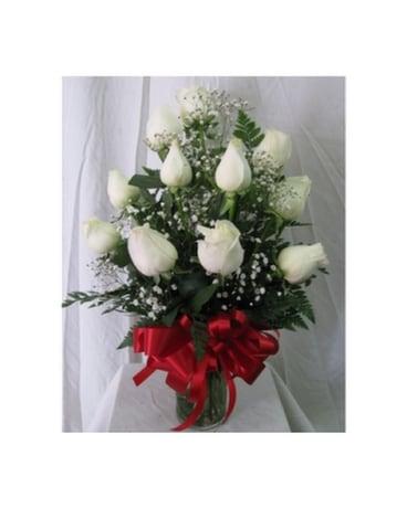 Dozen roses white in san diego ca the floral gallery dozen roses white flower arrangement mightylinksfo