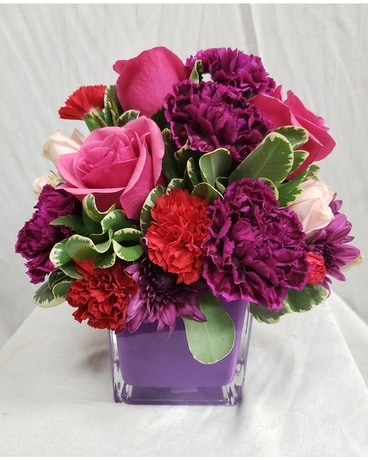 Fuschia Fun Flower Arrangement