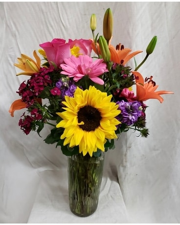 Touch of Vibrancy Flower Arrangement