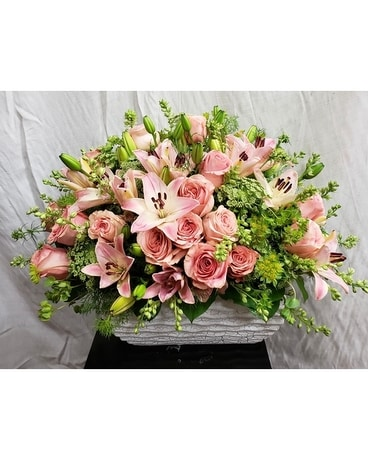 Blushing Blooms Flower Arrangement