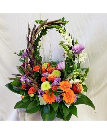 Waves of Vibrancy Flower Arrangement