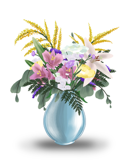 Pastel With Lilies Flower Arrangement