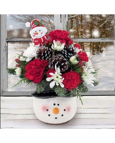 Frosty The Snowman Bouquet Flower Arrangement