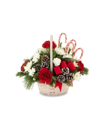 Candy Cane Lane Flower Arrangement