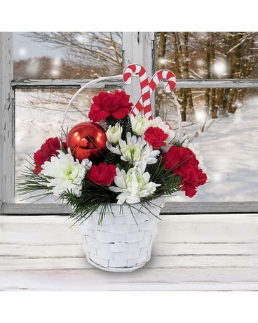 Sweet Christmas Treat Flower Arrangement