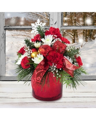 Red Glitz Bouquet Flower Arrangement