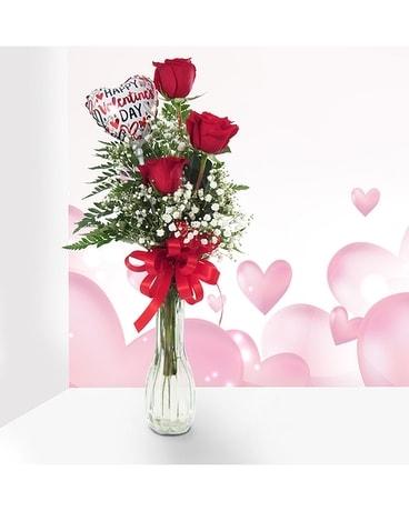 251 & Valentine\u0027s Day Rose Bud Vase in Southfield MI - Thrifty Florist
