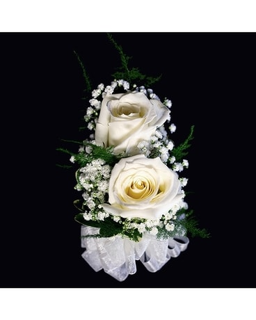 Double Rose Pin On Corsage Corsage