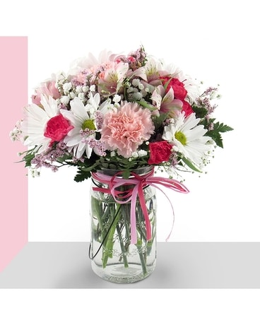 Blushing Beauty Flower Arrangement