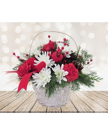 Red and White Christmas Basket
