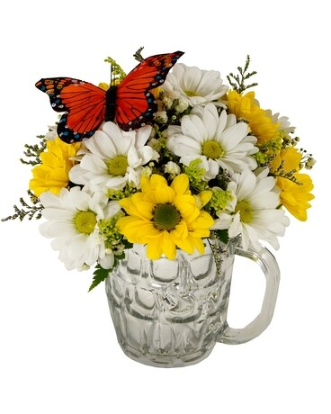 Mug Full of Daisies Flower Arrangement