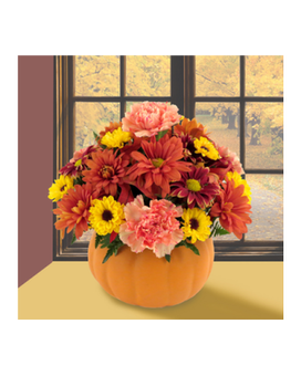 Pumpkin Pleaser Flower Arrangement