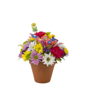 Bright Garden Blooms Flower Arrangement