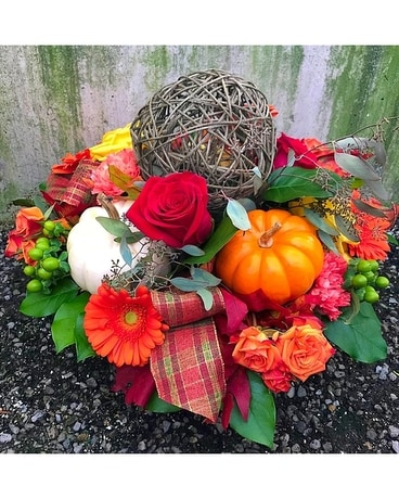 Autumn Centerpiece Flower Arrangement