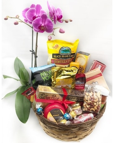 Orchid and Gourmet Basket