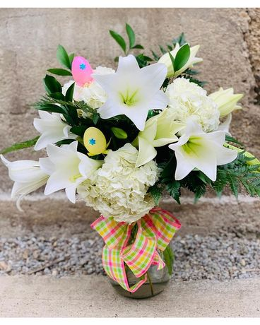 Lovely Lily Vase Flower Arrangement