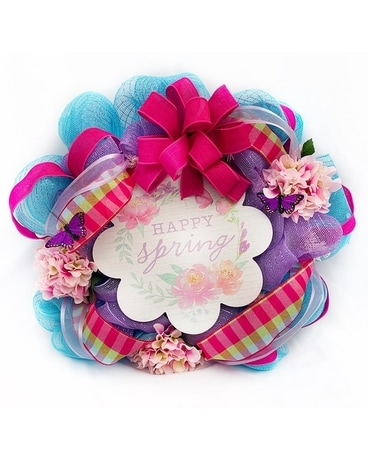 Happy Spring Door Wreath Wreath