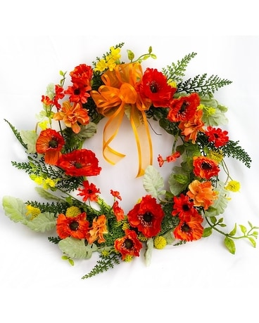 Wild Poppy Wreath Wreath
