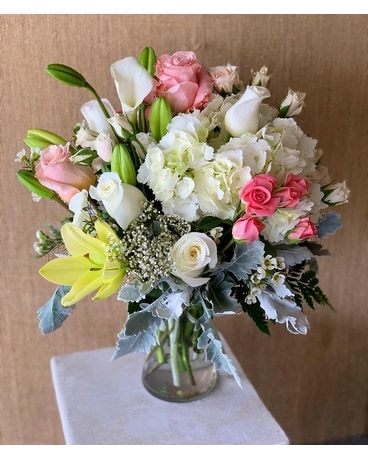 Lavish Whispers Flower Arrangement