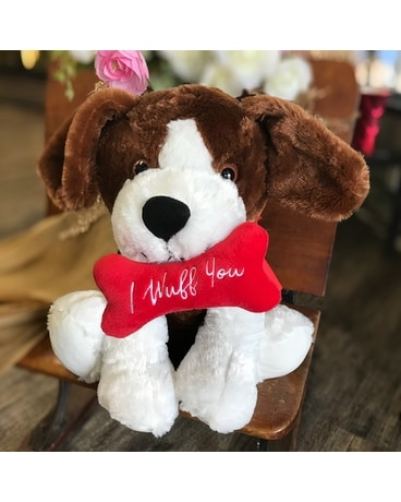 Plush Dog in Brown/White Gifts