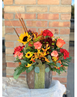 Pumpkin Patch Perfection Flower Arrangement