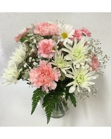 Pretty Pink And White Flower Arrangement