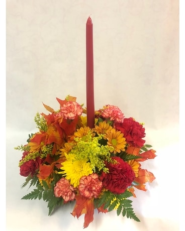 Fall Centerpiece with Candle Centerpiece