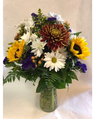 Autumn Daisy Days Vase Flower Arrangement