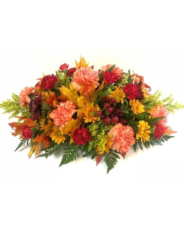 Oblong Fall Centerpiece Flower Arrangement
