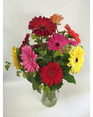 Mixed Gerbera Vase Flower Arrangement