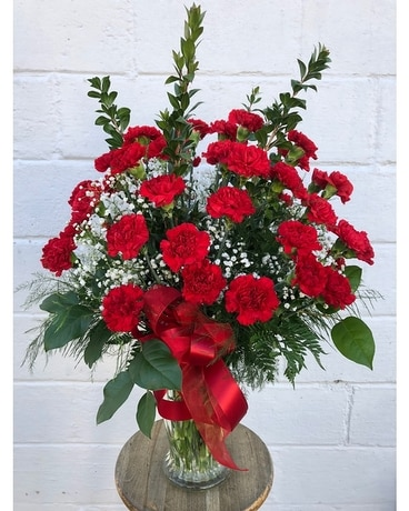 Grand Carnation Gesture Flower Arrangement