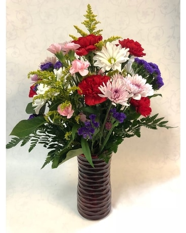 Spring In Red Flower Arrangement