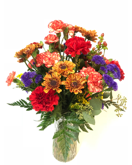 Autumn Days Vase Flower Arrangement